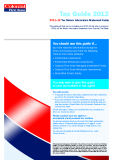Tax Guide 2012: 2011–12 Tax Return Information Statement Guide