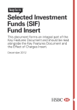 Selected Investment  Funds (SIF)   Fund Insert