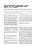 Báo cáo khoa học: Distribution of the lipolysis stimulated receptor in adult and embryonic murine tissues and lethality of LSR–/–