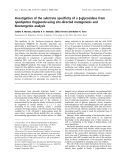 Báo cáo khoa học:  Investigation of the substrate specificity of a b-glycosidase from Spodoptera frugiperda using site-directed mutagenesis and bioenergetics analysis