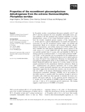 Báo cáo khoa học: Properties of the recombinant glucose⁄galactose dehydrogenase from the extreme thermoacidophile, Picrophilus torridus