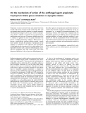 Báo cáo khoa học:  On the mechanism of action of the antifungal agent propionate Propionyl-CoA inhibits glucose metabolism in Aspergillus nidulans