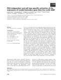 Báo cáo khoa học: PKA independent and cell type specific activation of the expression of caudal homeobox gene Cdx-2 by cyclic AM