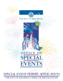 SPECIAL EVENT PERMIT APPLICATION THE CITY OF SAN DIEGO OFFICE OF SPECIAL EVENTS