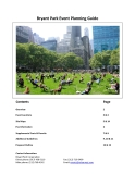 Bryant Park Event Planning Guide