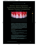 AESTHETIC CROWN LENGTHENING: CLASSIFICATION, BIOLOGIC RATIONALE, AND TREATMENT PLANNING CONSIDERATIONS