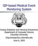 A SIP-based Medical Event Monitoring System