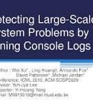 Mining Console Logs for Large-Scale System Problem Detection
