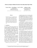 """Báo cáo khoa học: """"Pattern Learning for Relation Extraction with a Hierarchical Topic Model"""""""