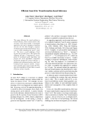 """Báo cáo khoa học: """"Efficient Search for Transformation-based Inference"""""""