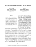 """Báo cáo khoa học: """"a Chat-oriented Dialogue System based on the Vector Space Model"""""""