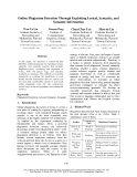 """Báo cáo khoa học: """"Online Plagiarism Detection Through Exploiting Lexical, Syntactic, and Semantic Information"""""""