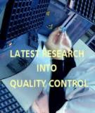 Latest Research into Quality Control Edited by Isin Akyar