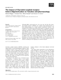 Báo cáo khoa học:  The impact of G-protein-coupled receptor hetero-oligomerization on function and pharmacology