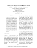 """Báo cáo khoa học: """"Local and Global Algorithms for Disambiguation to Wikipedia"""""""