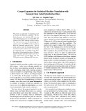 """Báo cáo khoa học: """"Corpus Expansion for Statistical Machine Translation with Semantic Role Label Substitution Rules"""""""