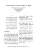 """Báo cáo khoa học: """"Automatically Evaluating Text Coherence Using Discourse Relations"""""""