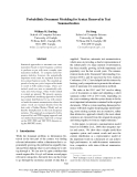 """Báo cáo khoa học: """"Probabilistic Document Modeling for Syntax Removal in Text Summarization"""""""