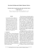 """Báo cáo khoa học: """"Reordering Modeling using Weighted Alignment Matrices"""""""
