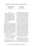 """Báo cáo khoa học: """"Assessing the Role of Discourse References in Entailment Inference"""""""