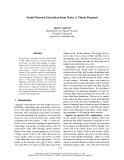 """Báo cáo khoa học: """"Social Network Extraction from Texts: A Thesis Proposal"""""""