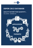 ESPON 2013 DATABASE   QUALITY RATHER THAN QUANTITY…