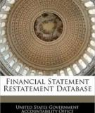 Financial Restatement Database