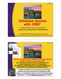 Database Access with JDBC