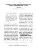 """Báo cáo khoa học: """"Four Techniques for Online Handling of Out-of-Vocabulary Words in Arabic-English Statistical Machine Translation"""""""