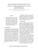 """Báo cáo khoa học: """"Extractive Summaries for Educational Science Content"""""""