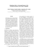 """Báo cáo khoa học: """"Redundancy Ratio: An Invariant Property of the Consonant Inventories of the World's Languages"""""""