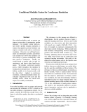 """Báo cáo khoa học: """"Conditional Modality Fusion for Coreference Resolution"""""""