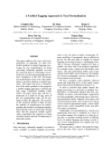 """Báo cáo khoa học: """"A Unified Tagging Approach to Text Normalization"""""""