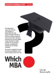 Extracted from the 17th edition of Which MBA?