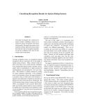 """Báo cáo khoa học: """"Classifying Recognition Results for Spoken Dialog Systems"""""""
