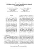 """Báo cáo khoa học: """"A Quantitative Analysis of Lexical Differences Between Genders in Telephone Conversations"""""""