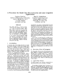 "Báo cáo khoa học: ""A Procedure for Multi-Class Discrimination and some Linguistic Applications"""