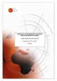 Coherence for Development: Economic  Recommendations for Spain