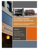 SIX CORNERS ECONOMIC  DEVELOPMENT MASTER PLAN