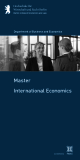 Department of Business and Economics - International Economics Master