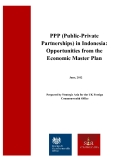 PPP (Public-Private Partnerships) in Indonesia:  Opportunities from the    Economic Master Plan