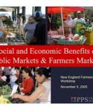 The economic benefits  of farmers' markets