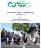 Economic Value of Walkability