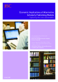 Economic Implications of Alternative  Scholarly Publishing Models