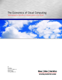 THE ECONOMICS OF CLOUD COMPUTING ADDRESSING THE BENEFITS OF INFRASTRUCTURE IN THE CLOUD
