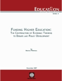 Funding Higher Education: The Contribution of Economic Thinking to Debate and Policy Development