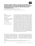 Báo cáo khoa học: Protective effect of dietary curcumin and capsaicin on induced oxidation of low-density lipoprotein, iron-induced hepatotoxicity and carrageenan-induced inflammation in experimental rats