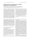 Báo cáo khoa học: Cloning, expression and characterization of a family-74 xyloglucanase from Thermobifida fusca