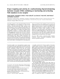 Báo cáo khoa học: Proper targeting and activity of a nonfunctioning thyroid-stimulating hormone receptor (TSHr) combining an inactivating and activating TSHr mutation in one receptor