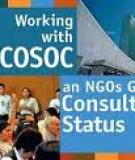 List of non-governmental organizations in consultative  status with the Economic and Social Council
